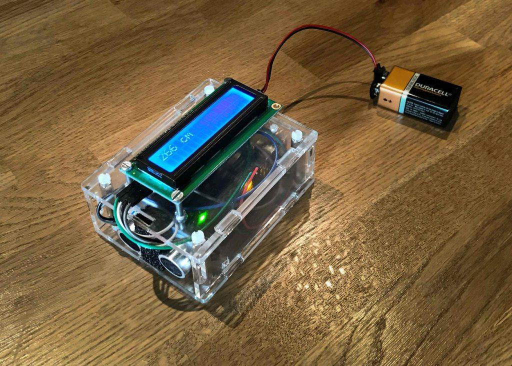 toepassing Arduino afstand meten ultrasound